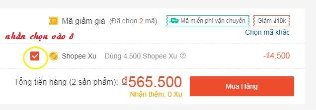 Hướng dẫn nhập mã giảm giá Shopee